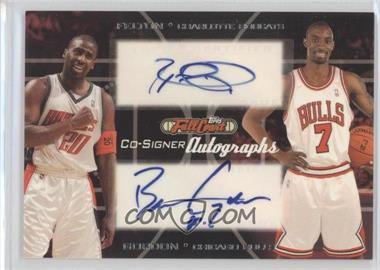 2006-07 Topps Full Court Co-Signers Autographs #CS-47 - Raymond Felton, Ben Gordon