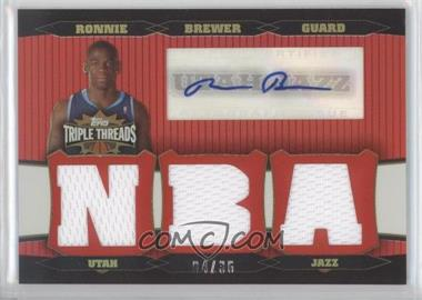 2006-07 Topps Triple Threads Relic Autographs [Autographed] #TTRA-100 - Ronnie Brewer /36