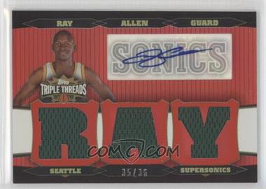2006-07 Topps Triple Threads Relic Autographs [Autographed] #TTRA-96 - Ray Allen /36