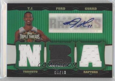 2006-07 Topps Triple Threads Relic Autographs Emerald [Autographed] #TTRA-115 - T.J. Ford /18