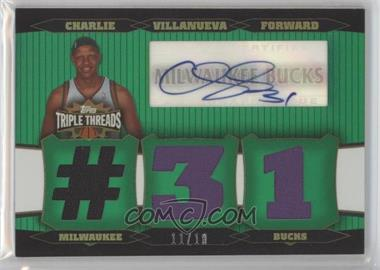 2006-07 Topps Triple Threads Relic Autographs Emerald [Autographed] #TTRA-30 - Charlie Villanueva /18