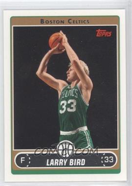 2006-07 Topps #33.13 - Larry Bird (Green Jersey Shooting with Arms Extended)