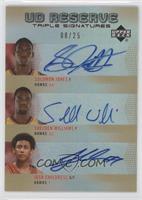 Solomon Jones, Shelden Williams, Josh Childress /25