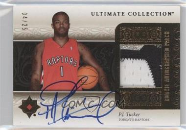 2006-07 Ultimate Collection Rookie Autographed Patch [Autographed] #URAP-PT - P.J. Tucker /25