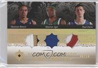 Shannon Brown, Maurice Ager, Paul Davis /25