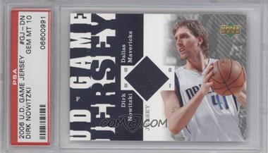2006-07 Upper Deck - UD Game Jersey #GJ-DN - Dirk Nowitzki [PSA10]
