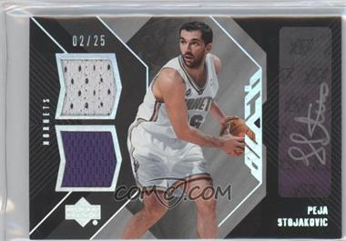 2006-07 Upper Deck Black Auto Dual Materials #ADM-PS - Peja Stojakovic /25