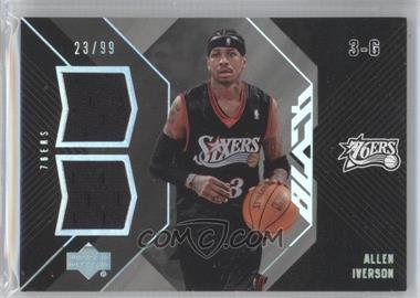 2006-07 Upper Deck Black Dual Materials #DM-AI - Allen Iverson /99