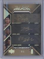 Brad Daugherty, Lebron James, Shannon Brown /5