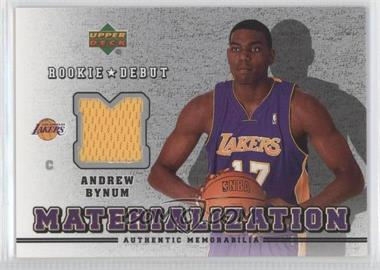 2006-07 Upper Deck Rookie Debut - Materialization #MT-AB - Andrew Bynum