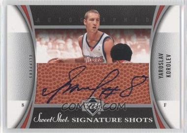 2006-07 Upper Deck Sweet Shot - Signature Shots - Leather [Autographed] #SSL-YK - Yaroslav Korolev