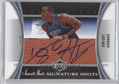 2006-07 Upper Deck Sweet Shot Signature Shots Leather [Autographed] #SSL-DH - Dwight Howard
