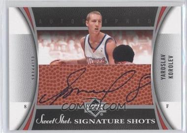2006-07 Upper Deck Sweet Shot Signature Shots Leather [Autographed] #SSL-YK - Yaroslav Korolev