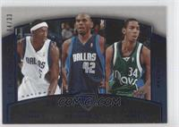 Josh Howard, Jerry Stackhouse, Devin Harris /33
