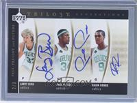 Larry Bird, Paul Pierce, Rajon Rondo /3