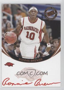 2006 Press Pass Autographs [???] [Autographed] #N/A - Ronnie Brewer (Red Ink)
