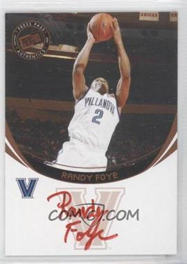 2006 Press Pass Autographs [???] [Autographed] #RAFO.2 - Randy Foye (Red Ink)