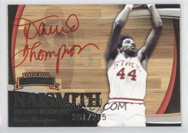 2006 Press Pass Legends Naismith Award Winners [???] Autographs [Autographed] #N/A - David Thompson /285