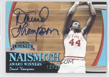 2006 Press Pass Legends Naismith Award Winners Prime Autographs [Autographed] #N/A - David Thompson /25