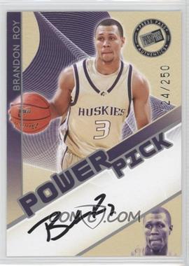 2006 Press Pass Power Pick Autographs [Autographed] #BRRO - Brandon Roy /250