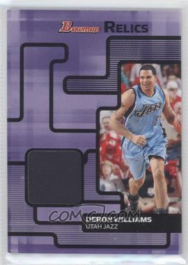 2007-08 Bowman Draft Picks & Stars - Relics #BR-DWI - Deron Williams