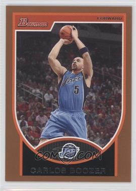 2007-08 Bowman Draft Picks & Stars Bronze #95 - Carlos Boozer /399