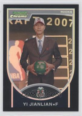 2007-08 Bowman Draft Picks & Stars Chrome Black Refractor #121 - Yi Jianlian /199