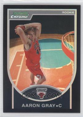 2007-08 Bowman Draft Picks & Stars Chrome Black Refractor #144 - Aaron Gray /199