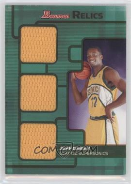 2007-08 Bowman Draft Picks & Stars Relics Triple Bronze #BR-JG - Jeff Green /50