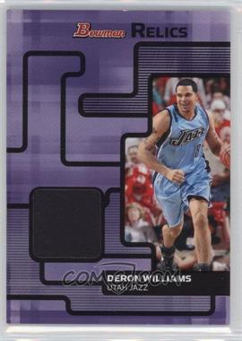 2007-08 Bowman Draft Picks & Stars Relics #BR-DWI - Deron Williams