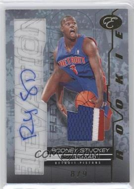 2007-08 Bowman Elevation Rookie Writings Relics Blue Patch [Autographed] #RW-RS - Rodney Stuckey /9