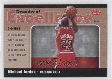 2007-08 Fleer - Decades of Excellence - Glossy #3 - Michael Jordan