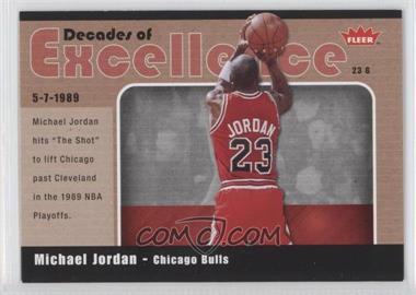 2007-08 Fleer Decades of Excellence Glossy #3 - Michael Jordan