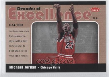 2007-08 Fleer Decades of Excellence #10 - Michael Jordan