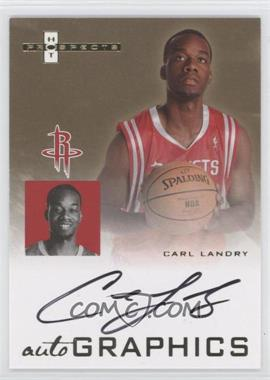 2007-08 Fleer Hot Prospects - Autographics #AU-CL - Carl Landry