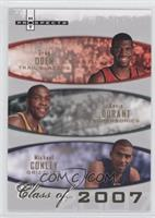 Greg Oden, Kevin Durant, Michael Conley /2007