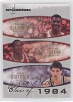 Hakeem Olajuwon, Michael Jordan, John Stockton /1984