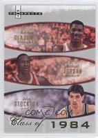 Michael Jordan, John Stockton, Hakeem Olajuwon /1984