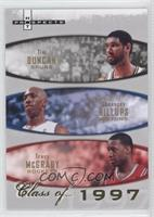 Tim Duncan, Chauncey Billups, Tracy McGrady /1997