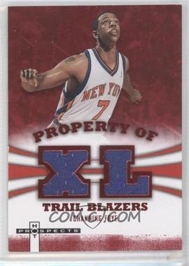 2007-08 Fleer Hot Prospects Property Of Materials Red #PO-CF - Channing Frye /25