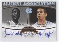 James Worthy, Bracey Wright, Brandan Wright