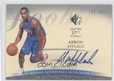 2007-08 SP - Retail Rookie Authentics Autograph - [Autographed] #134 - Arron Afflalo /599