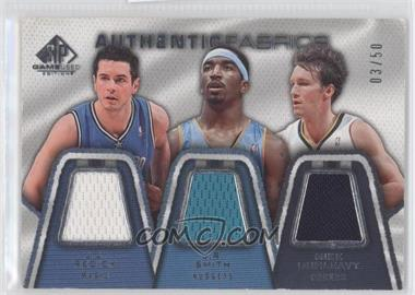 2007-08 SP Game Used Authentic Fabrics Triple #AFT-RSD - J.J. Redick, J.R. Smith, Mike Dunleavy /50