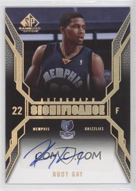 2007-08 SP Game Used Significance Autographs [Autographed] #SI-RG - Rudy Gay