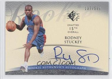2007-08 SP Retail Rookie Authentics Autograph [Autographed] #126 - Rodney Stuckey /599