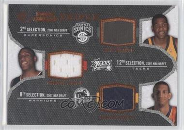 2007-08 SP Rookie Threads - Rookie Photo Shoot Materials - Triple #TRT-DYW - Kevin Durant, Thaddeus Young, Brandan Wright