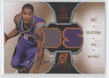 2007-08 SP Rookie Threads - Rookie Photo Shoot Materials #RT-DS - D.J. Strawberry
