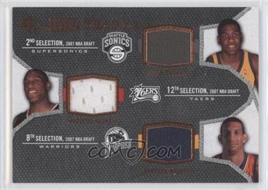 2007-08 SP Rookie Threads Rookie Photo Shoot Materials Triple #TRT-DYW - Kevin Durant, Thaddeus Young, Bracey Wright, Brandan Wright