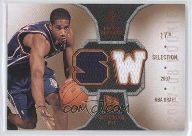 2007-08 SP Rookie Threads Rookie Photo Shoot Materials #RT-SW - Sean Williams