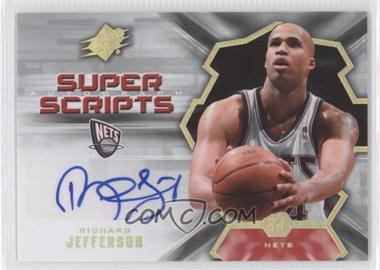 2007-08 SPx Super Scripts Autograph [Autographed] #SS-RJ - Richard Jefferson